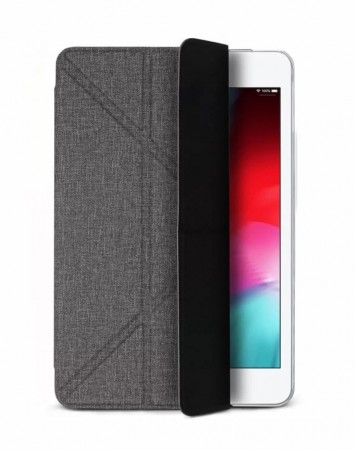 iPad mini 2019 Amos 7.9 吋 相機快取多角度折疊布紋皮套