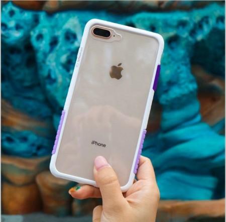 Telephant 太樂芬|NMDer iPhone系列 抗汙防摔框 白紫