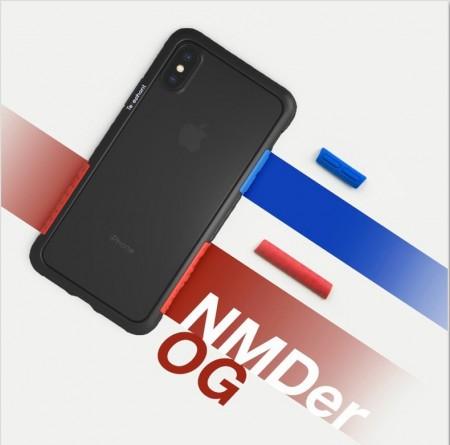 Telephant 太樂芬|NMDer iPhone系列 抗汙防摔框 黑藍紅