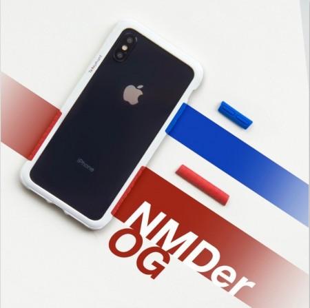 Telephant 太樂芬|NMDer iPhone系列 抗汙防摔框 白藍紅