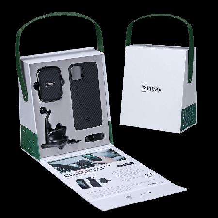 【限時優惠】PITAKA 車用禮盒 (MagEZ手機殼+磁吸車用支架)