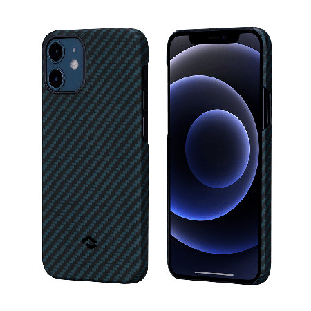 PITAKA MagEZ Case 航太纖維磁吸手機殼 iPhone12 藍黑
