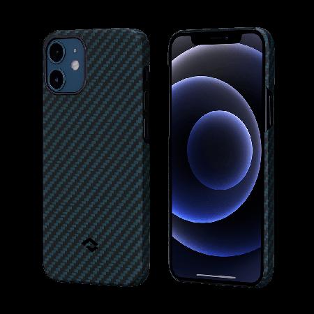 PITAKA|MagEZ Case 航太纖維磁吸手機殼 iPhone12 mini 藍黑