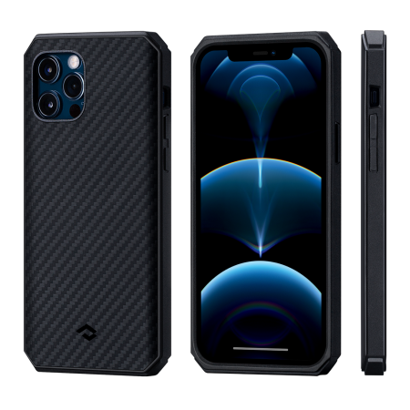 PITAKA|MagEZ Case 航太纖維軍規磁吸手機殼 iPhone12 Pro