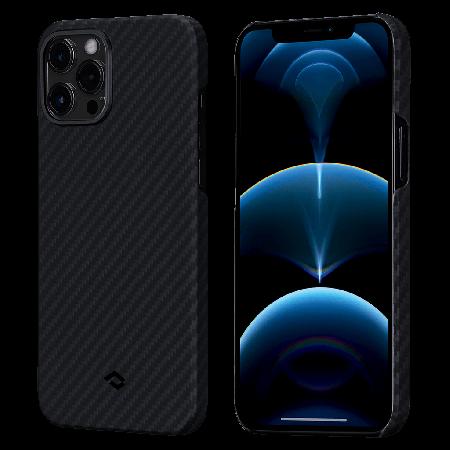 PITAKA MagEZ Case 航太纖維磁吸手機殼 iPhone12 Pro 黑灰
