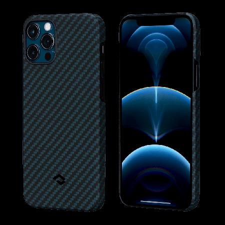 PITAKA MagEZ Case 航太纖維磁吸手機殼 iPhone12 Pro Max 藍黑