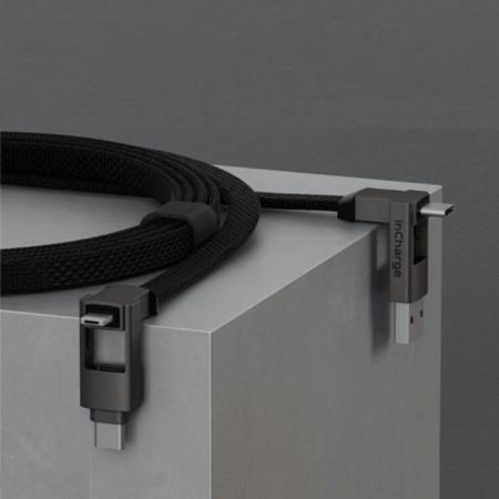 【限時優惠】瑞士|inCharge 6 六合一傳輸線 ( MAX加長版 / 太空灰 )