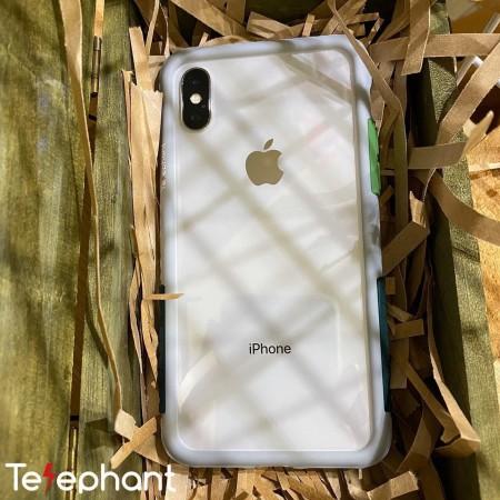 Telephant 太樂芬|NMDer iPhone系列 抗汙防摔框 灰軍綠