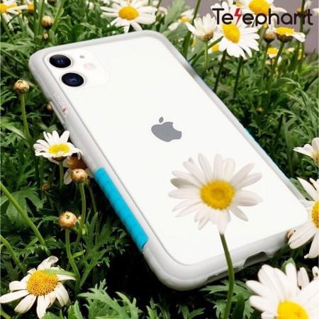 Telephant 太樂芬|NMDer iPhone系列 抗汙防摔框 灰藍