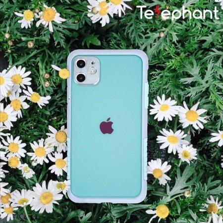 Telephant 太樂芬|NMDer iPhone系列 抗汙防摔框 灰無憂綠