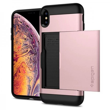 Spigen iPhone Xs Max Slim Armor CS 卡夾軍規防摔保護殼