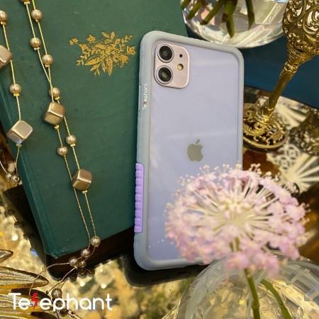 Telephant 太樂芬|NMDer iPhone系列 抗汙防摔框 灰紫
