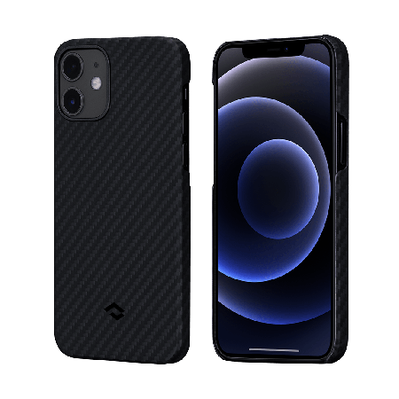 PITAKA MagEZ Case 航太纖維磁吸手機殼 iPhone12黑灰