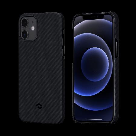 PITAKA MagEZ Case 航太纖維磁吸手機殼 iPhone12 mini 黑灰