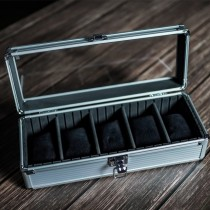 Stoner Design 手錶收藏盒收納盒 鋁合金5格(星耀銀)