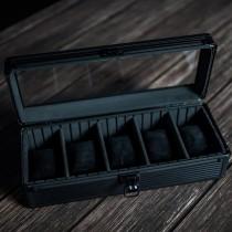 Stoner Design 手錶收藏盒收納盒 鋁合金5格(曜石黑)