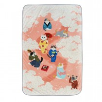 法蘭絨貓咪個人空調毯(穿和服賞櫻)