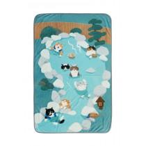 法蘭絨貓咪個人空調毯(一起泡溫泉)