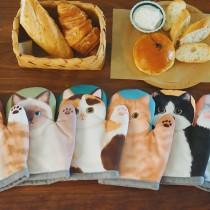 加厚升級 貓咪隔熱手套