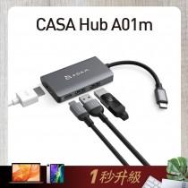 OMNIA F6 65W快速電源供應器+CASA Hub i4 USB-C 四合一 iPad Pro影音集線器