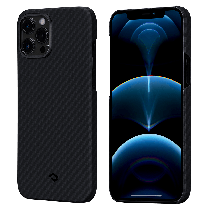 PITAKA|MagEZ Case 航太纖維磁吸手機殼 iPhone12 Pro Max 黑灰
