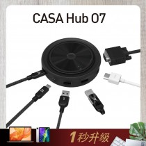 亞果元素 CASA Hub O7 USB-C 7合一無線充電多功能集線器 黑