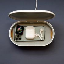 亞果元素 OMNIA UVC+ 無線充電臭氧紫外線燈殺菌盒 單入【無附QC快充器】