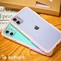 Telephant 太樂芬|RENMD琉璃透粉 色塊配色 iPhone 12