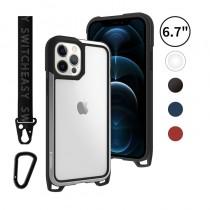 Odyssey 掛繩 6.7吋 iPhone12 ProMax 金屬手機殼