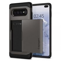 Spigen Galaxy S10+ Slim Armor CS-卡夾軍規防摔保護殼