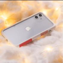 TELEPHANT 太樂芬 NMDer抗汙防摔框 iPhone 12mini 白粉