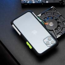 TELEPHANT 太樂芬 NMDER抗汙防摔框 iPhone 12mini 黑酷客綠