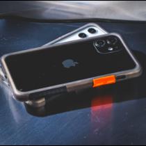 TELEPHANT 太樂芬|NMDer抗汙防摔框 iPhone 12 Pro Max 黑戀橘