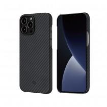 【預購】PITAKA|MagEZ Case for iPhone13 航太纖維磁吸手機殼 (黑灰)