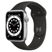 Apple Watch Series 6 44mm銀色鋁金屬錶殼 運動型錶帶