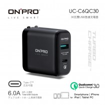 ONPRO UC-C6QC30 Type-C 2用快充USB急速充電器