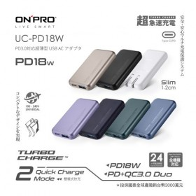 【特惠】ONPRO PD 18W 雙孔快充超薄旅充充電器 UC-PD18W